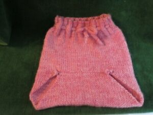 """Baby Diaper Cover Wool Soaker Wool Hand Knit Prewashed Lanolized Pink 18"""""""