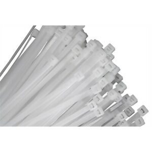 "100-pack of 14 Natural Nylon Cable Ties with 4"" Diameter and 50 lb."