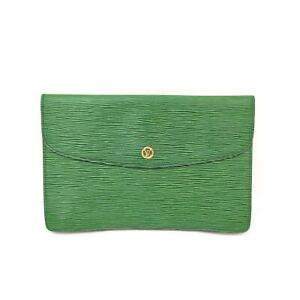 Louis Vuitton LV Clutch Bag M52664 Montaigne 23 Greens Epi 1418757