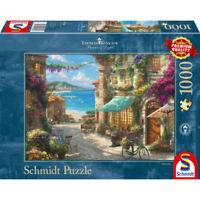 Schmidt Spiele Puzzle Café an der italienischen Riviera Thomas Kinkade 1000 T.