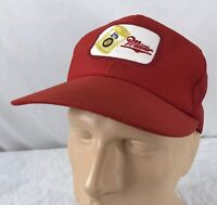 Vtg Miller Lite Hat Snapback Trucker Cap Beer Patch Red