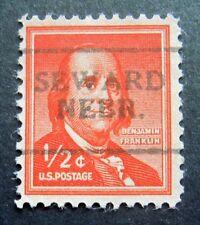 Sc # 1030 ~ 1/2 cent Liberty Issue, Precancel, SEWARD NEBR. L1