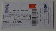 Ticket for collectors EC Viking Stavanger AS Monaco 2005 Norway France