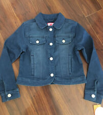 Gymboree Girls Denim Jean Jacket Medium Blue Stretchy Size M 7-8 NWT