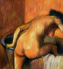 Oil painting female portrait Edgar Degas French The Morning Bath Hand painted