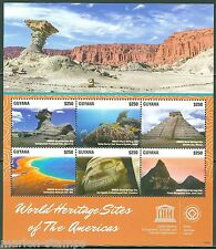 GUYANA 2015 WORLD HERITAGE SITES UNESCO SHEET MINT NH
