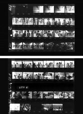Jimi Hendrix Fehmarn 1970 last concert, two photo negative contact sheets, Tour