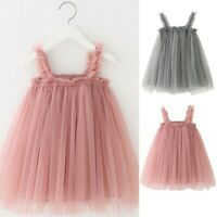 Toddler Baby Girl Kids Dresses Clothes Sleeveless Children Princess Tulle Dress