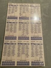 Strat-O-Matic Baseball 1948 Complete Card Set -Sa - Unperforated -Sealed - Mint