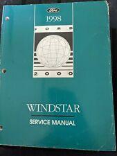 1998 FORD TRUCK WINDSTAR SERVICE MANUAL