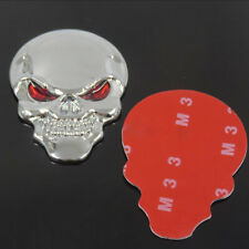 Cool 3D Metal Skull Bone Red Eyes Car Motorcycle Decor Emblem Badge Sticker New
