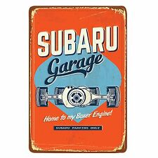 Genuine Subaru Vintage Garage Sign Impreza Legacy Wrx Sti Outback Forester Rally