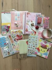 Kawaii Lot Japanese Stationery San-x Deco Tape Ring Charm Sticker Memo Letterset