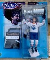 Hasbro Starting Lineup Wayne Gretzky Edmonton Oilers NHL Stanley Cup W/ Poster