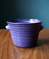 Studio Pottery Flower Pot Herb Pot Planter Blue Signed JHH Contemporary Ceramics