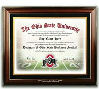 OHIO STATE BUCKEYES Football Fan Certificate / Diploma Man Cave GIFT CHRISTMAS