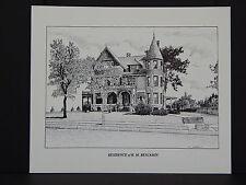 Milwaukee, Wisconsin, c.1984 Black & White Print, #06 House of H.M. Benjamin