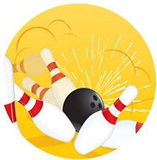 ✿ 24 Essbares Reispapier Törtchen Toppings -Ten Pin Bowling ✿