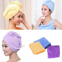 TURBANTE COLORI MICROFIBRA IN ASCIUGACAPELLI CUFFIA VARI HAIR WRAP nj