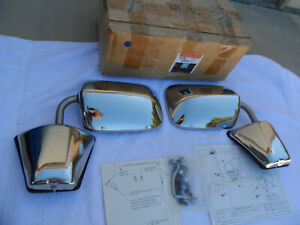 NOS 1973-1987 GMC SIERRA CLASSIC & CHEVY SILVERADO STAINLESS MIRROR KIT # 996220
