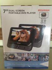 """Sylvania SDVD7750 7"""" dual screen portable DVD player -NEW"""