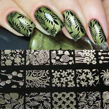 BORN PRETTY Flowers & Leaves Nail Art Stamp Plates Metal Nail Art ImageTemplates