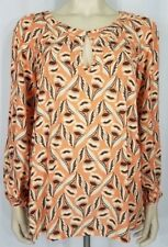 NWT Ghost London Anthropologie Retro Bloom peach blouse ladies Medium