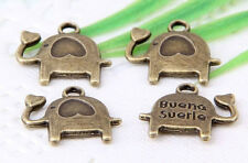 30Pcs Bronze Plated (Lead-Free)Charms Pendant 15x14mm