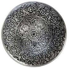 """3-3/4"""" Tibetan Incense Burner Holder Floral Antiqued Silver Color"""