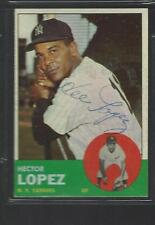 1963 Topps #92 Hector Lopez Yankees signed auto autograph FREE SHIPPING