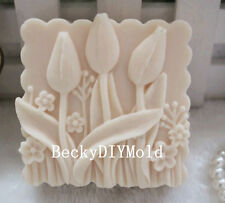 1pcs Small Tulips (zx71) Silicone Handmade Soap Molds Crafts DIY Moulds