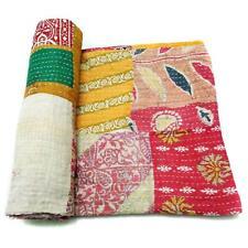 patchwork Kantha Quilt Indian Handmade Cotton Bedspread Authentic Bedding PB31