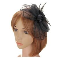 Flower Feather Fascinator Headband Hat Wedding Prom Ladies A3P5
