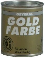 Geyeral Goldfarbe 125ml Gold - Lackfarbe Goldlack für Metall Holz Kunststoff