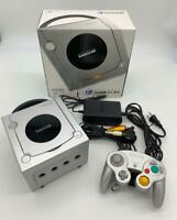 Nintendo GameCube Console Silver Color & Controller with BOX and Manual