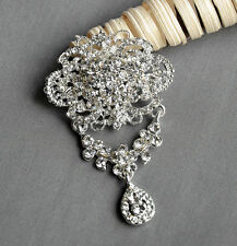 Rhinestone Crystal Brooch Jewelry Pin Wedding Invitation Cake Decoration BR094