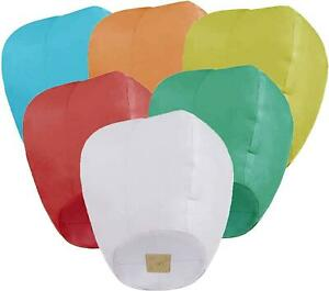6 Pack Paper Chinese Lanterns for Valentine's Day Weddings & New Years Party New