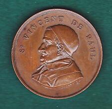 MEDAILLE SOCIETE DE SAINT VINCENT DE PAUL .NOCES D'OR 1833-1883 par C.TROTIN