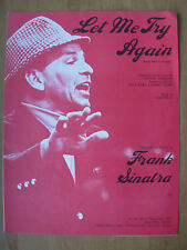 VINTAGE SHEET MUSIC - LET ME TRY AGAIN - FRANK SINATRA