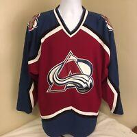 Vtg 90s Starter Mens Jersey Colorado Avalanche Hockey NHL Large Sewn Stitched FS