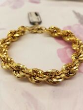 MAGNIFICENT LARGE ROPE DESIGN 18K YELLOW  GOLD BREATHTAKING BRACELET ITALY