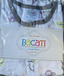 Bacati Monkey Wearable Blanket, Sleep Sack Medium 15-24 Lbs 6-12 Month