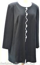 Vintage HHR 60s Black White Polyester tunic mini DRESS Top go go retro SIZE XL