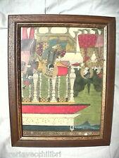 Quadretto stampa riproduzione quadro Indiano India in cornice arte povera Orient