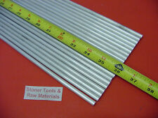 """20 pieces 1/4"""" ALUMINUM 6061 ROUND ROD 36"""" long T6511 Solid .25"""" Lathe Stock 60'"""
