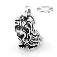 "SILVER ""YORKSHIRE TERRIER DOG"" CHARM WITH ONE SPLIT RING"
