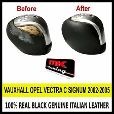 VAUXHALL OPEL VECTRA C SIGNUM 2002-05 BLACK LEATHER COVER FOR GEAR KNOB ONLY
