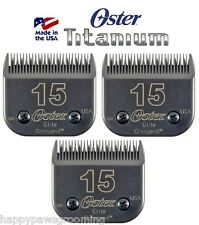 3 Oster A5 ELITE TITANIUM CryogenX 15 Clipper Blade Pet Horse*LAST 3Times LONGER