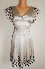 KAREN MILLEN LADIES WOMAN STUNNING PARTY SPECIAL OCCASIONS SILK DRESS SIZE 8 UK