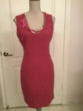 DESIGNER  ~ AEFFE S.P.A ~ Made in Italy Pink Virgin Wool Dress Size 6